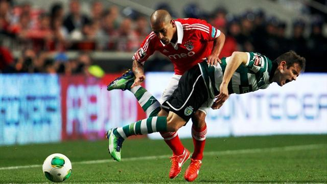 European Football - Unbeaten Benfica secure Lisbon derby over Sporting