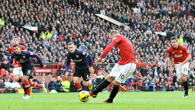 Wayne Rooney missed a penalty against Arsenal on Saturday