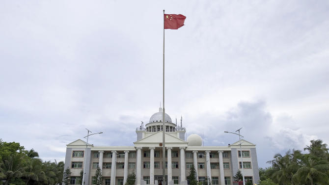 administration office building for the Xisha, Nansha, Zhongsha islands on Yongxing Island, the government seat of Sansha City off the south China's Hainan province