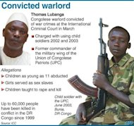 Fact file on Congolese warlord Thomas Lubanga, who was sentenced to 14 years in jail on Tuesday for using child soldiers in his rebel army, in the tribunal's first such order
