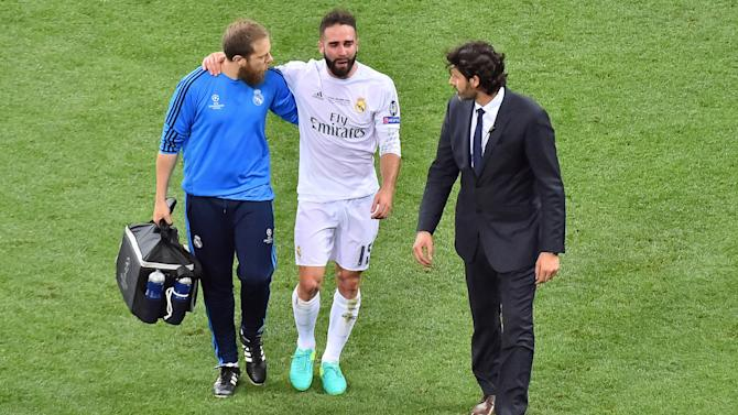 Carvajal sustains injury in Champions League final