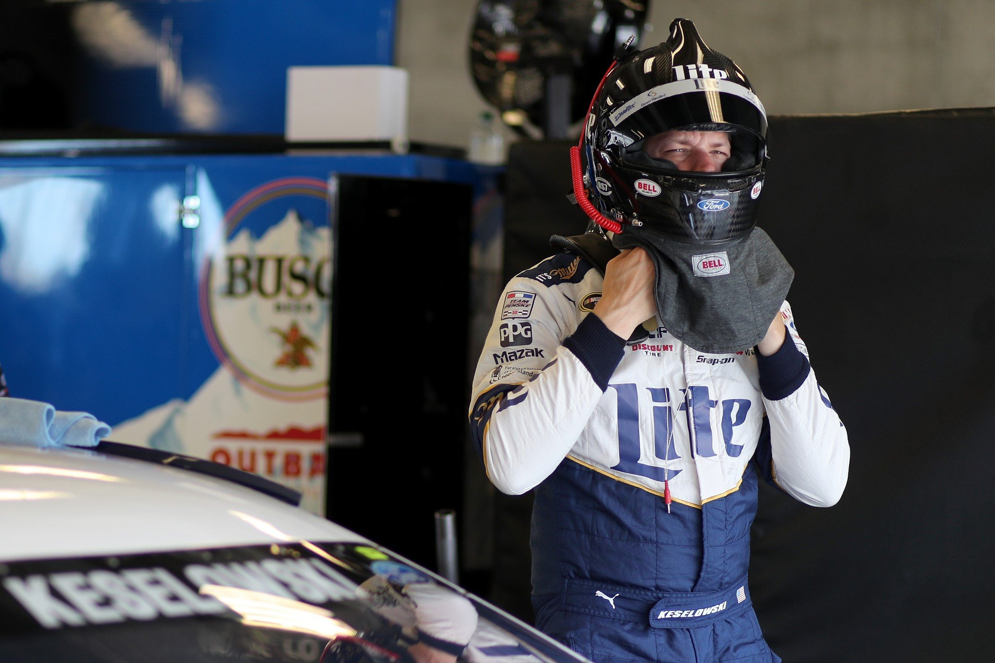 Brad Keselowski is tied for the Cup lead in wins with 4 (Getty).