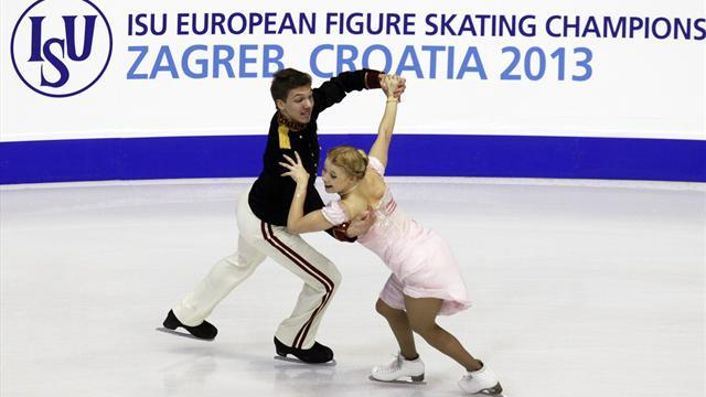 Figure Skating - Bobrova and Soloviev lead after short program in Zagreb