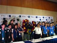 The Azkals pose with Suzuki Philippines officials led by President Satoshi Uchida