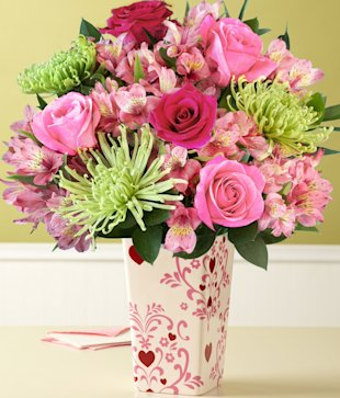 All the Frills with a free glass vase