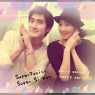 Kim Sunah and Choi Siwon together