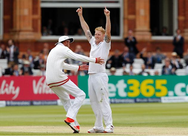 At tea on the fifth and final day, New Zealand were 134 for five against England, needing a further 211 runs to reach their victory target of 345
