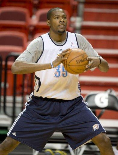 Oklahoma City Thunder player Kevin Durant