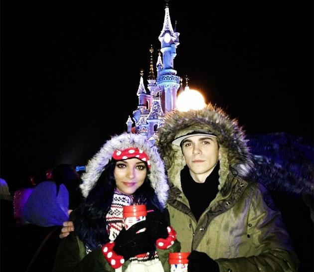 Celebs on New Year: Little Mix's Jade spent New Year in Disneyland Paris with her boyfriend Sam Craske. Copyright [Twitter/LittleMixOffic]