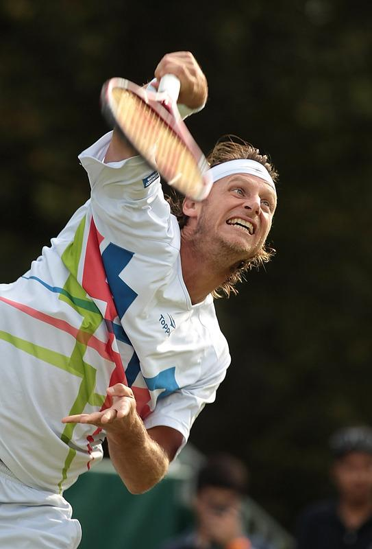 David Nalbandian Of Argentina In Action Against Nicolas Almagro  Getty Images