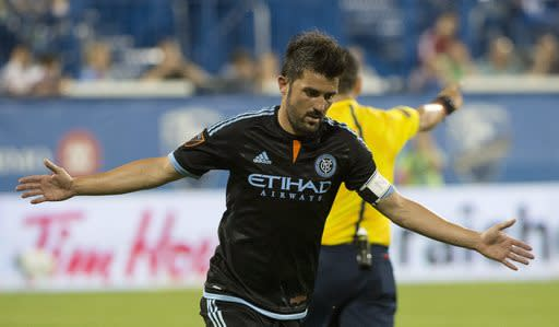 Villa, New York City FC beat Montreal Impact 2-1