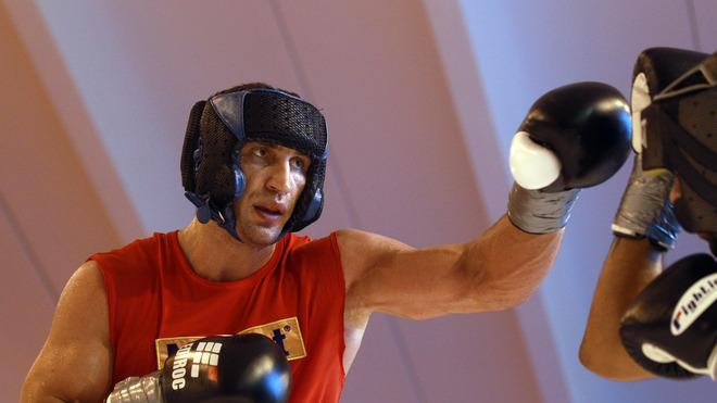 Wladimir Klitschko Of Ukraine Exchange Punches  Bongarts/Getty Images