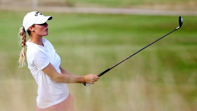 Golf - Pressel, Lennarth lead as Park fades at British Open
