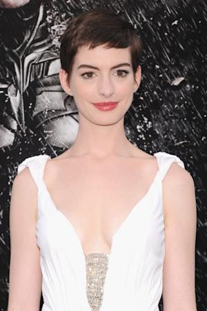 Anne Hathaway attends 'The Dark Knight Rises' premiere at AMC Lincoln Square Theater on July 16, 2012 in New York City -- Getty Images
