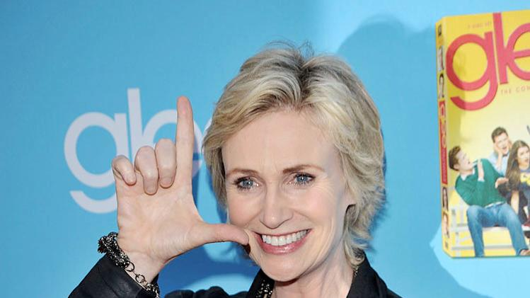 "Jane Lynch attends the ""Glee"" Season 2 Premiere Screening and DVD Release Party at Paramount Studios on September 7, 2010, in Hollywood."