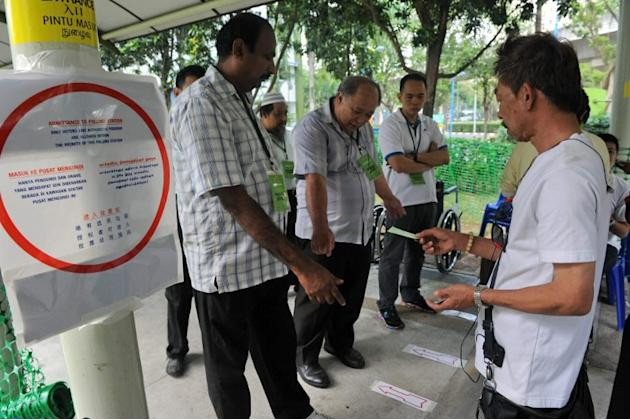 31,600 voters in Punggol East cast their ballots at one several polling stations in the estate.