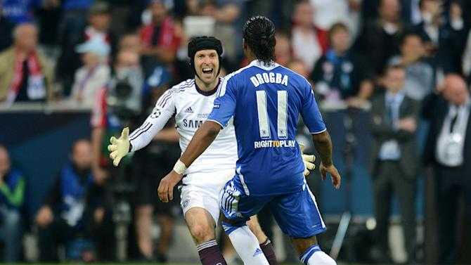 Didier Drogba and Petr Cech