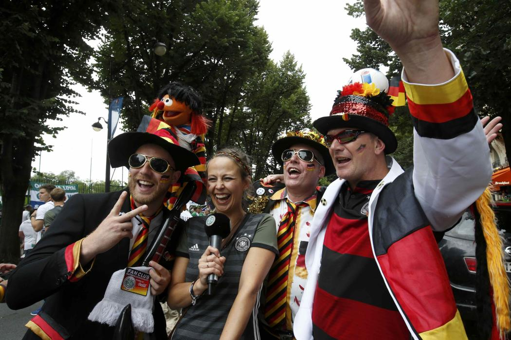 Football Soccer - Northern Ireland v Germany - Euro 2016 - German supporters