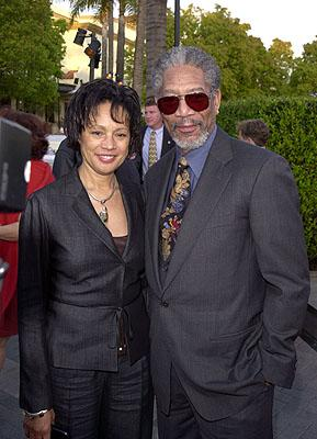 Morgan Freeman and wife at the premiere of Paramount's Along Came A Spider