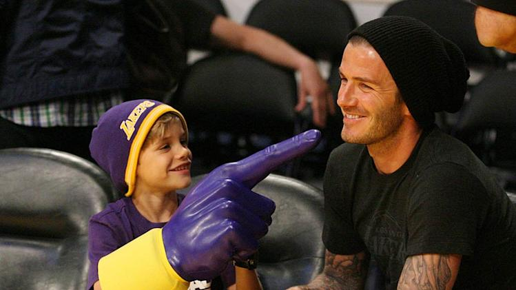 David Beckham son Lakers Game