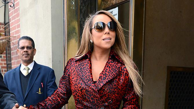 Mariah Carey Rocks A Red Leopard Print Coat
