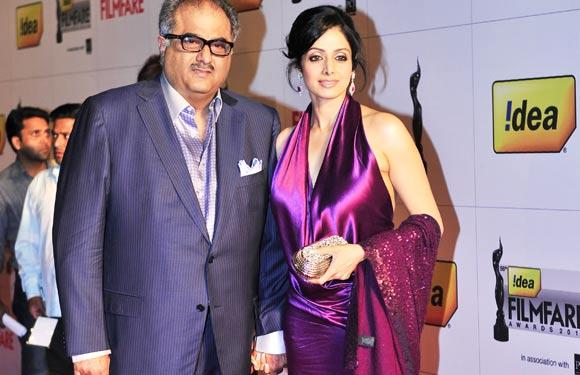 Bollywood actress Sridevi and Boney Kapoor, their marriage in 1996 created a furor, because the movie producer was already married with two children. Moreover, Boney was eight years her senior.   © BC