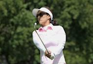 Grace Park of South Korea hits a shot on the eighth hole during the second round of the Wegmans LPGA Championship at Locust Hill Country Club on June 8 in Pittsford, New York. Park, whose six career LPGA titles included a major win at the 2004 Kraft Nabisco Championship, said she was retiring after her second round of the LPGA Championship