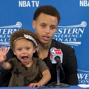 Stephen Curry's Adorable Daughter Steals the Spotlight at NBA Press Conference