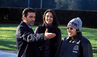 Antonio Banderas , Talisa Soto and director Kaos on the set of Warner Brothers' Ballistic: Ecks Vs. Sever