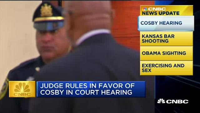 CNBC Update: Victory for Cosby in court hearing