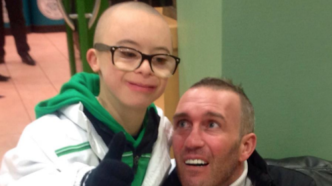 Emotional scenes at Celtic Park last night as club hosted terminally ill ex-Rangers player