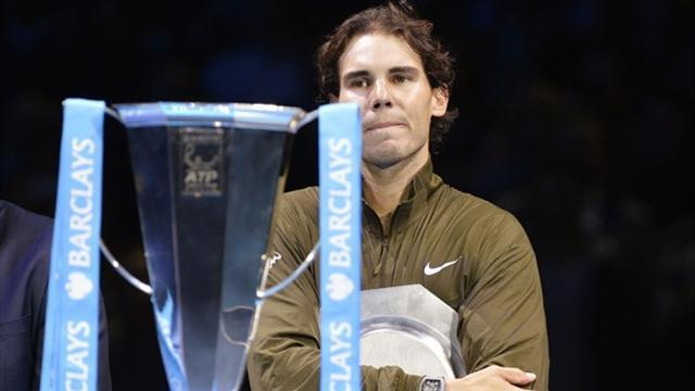ATP World Tour Finals - Nadal not downhearted despite Djokovic mauling
