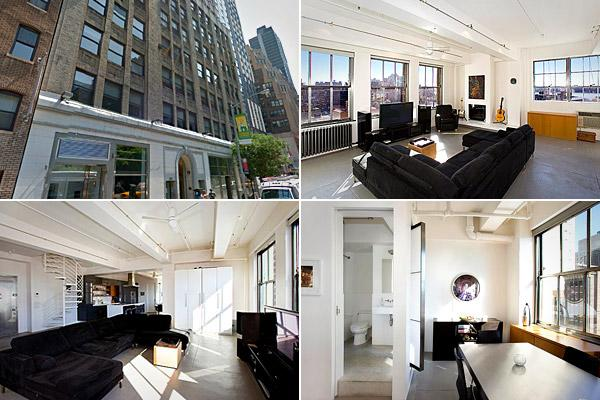 This former garment factory in New York is now a triplex penthouse. (Photos: Google | Realtor.com)