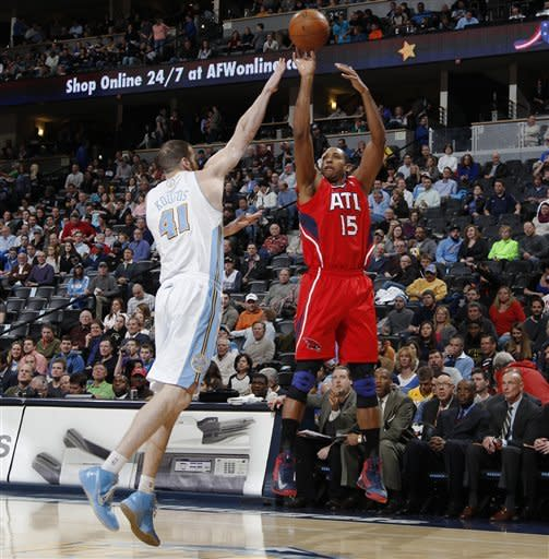 Nuggets beat short-handed Hawks 104-88