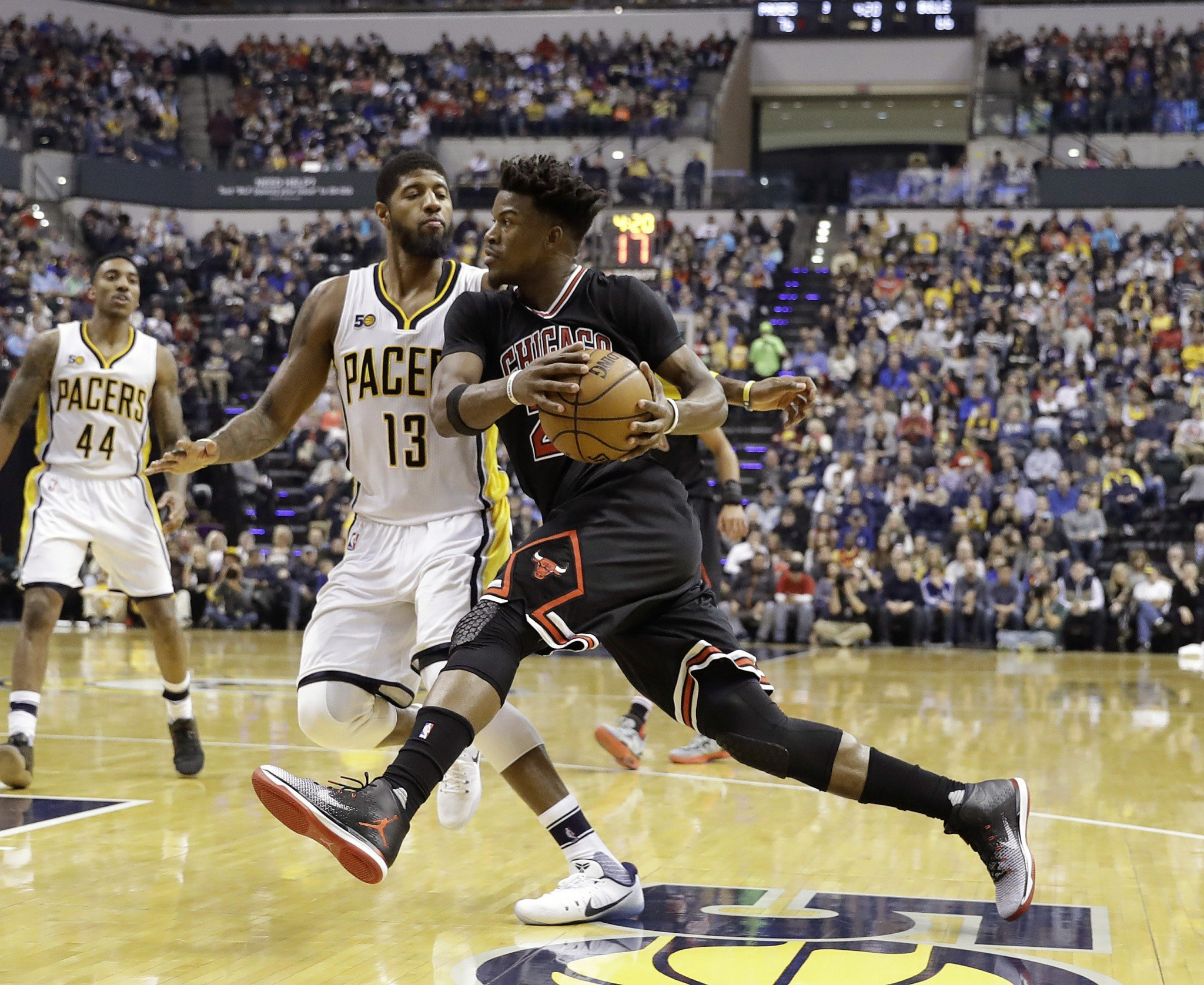 Paul George and Jimmy Butler might be the two biggest names bandied about in trade rumors ahead of Thursday's deadline. (AP)
