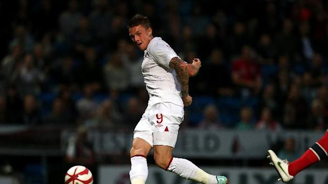 Connor Wickham's first-half strike meant England Under-21s finished top of group eight