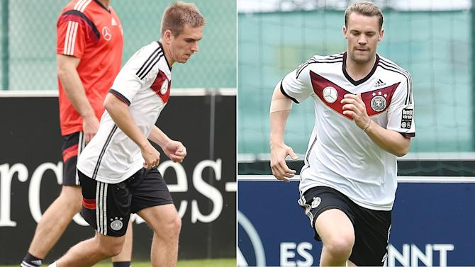World Cup - Germany's Lahm, Neuer to miss warm-up game against Cameroon