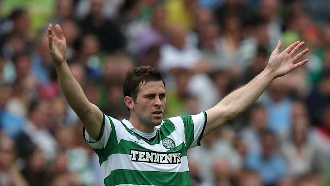 Celtic striker Daryl Murphy is facing a spell on the sidelines