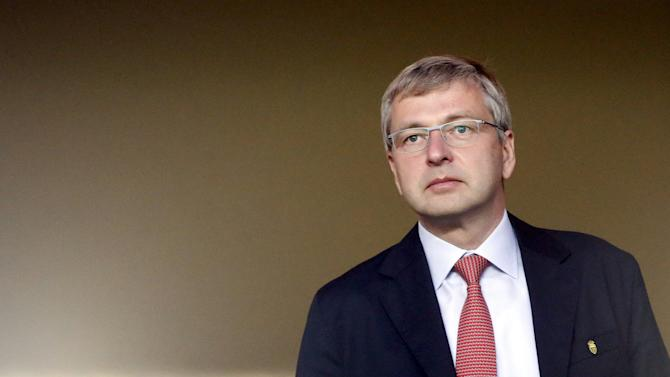 Dmitri Rybolovlev of Russia, President of AS Monaco Football Club, arrives to attend the Europa League Group J soccer match Monaco against Tottenham at Louis II stadium in Monaco