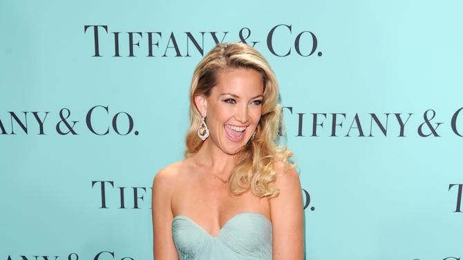 Actress Kate Hudson attends the Tiffany & Co. Blue Book Ball at Rockefeller Center on Thursday April 18, 2013 in New York. (Photo by Evan Agostini/Invision/AP)