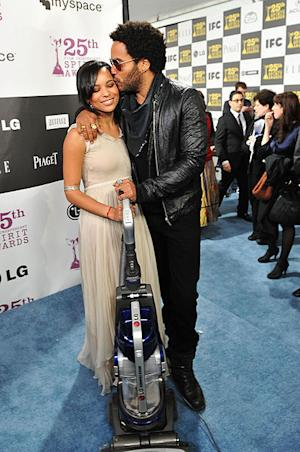 Actor Lenny Kravitz with daughter Zoe in 2010