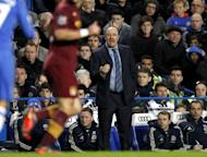 Chelsea interim manager Rafael Benitez at the Premier League match against Manchester City on November 25. He will face the wrath of his new club's fans for the second time when they tackle Fulham in the Premier League on Wednesday