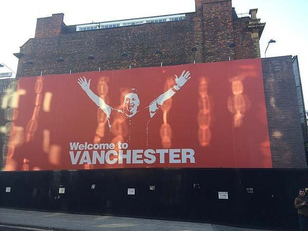 United get one over on City with cheeky Manchester poster