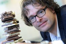 Chemist Stefan Bon says he can substitute the fat in chocolate with fruit juice. (University of Warwick)