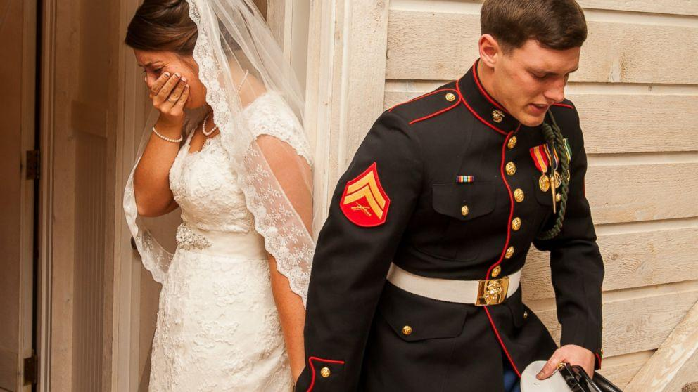 Photo of Marine Praying With Bride-to-Be Goes Viral