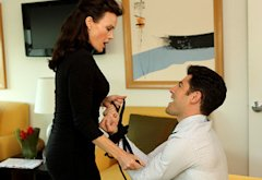 Carla Gugino and Max Greenfield | Photo Credits: Patrick McElhenney/FOX