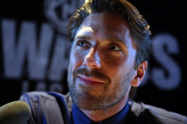 Goaltender Henrik Lundqvist Of The New York Rangers Speaks Getty Images