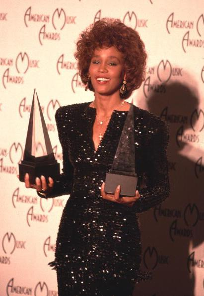 Whitney Houston at the 16th American Music Awards in 1989 (Photo by Chris Walter/WireImage)