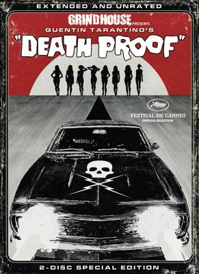 "The box art for the DVD release of Dimension Films' Grindhouse presents Quentin Tarantino's ""Death Proof"""