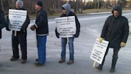 Internation Union of Elevator Constructors members formed a picket line in St. John's Dec. 12.